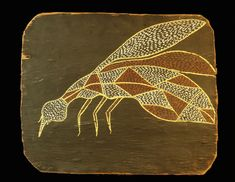 thomas amagula bark painting of a mosquito for sale indigenous australian art Aboriginal art kids aboriginal aboriginal art australian aboriginal painting Aboriginal symbols aboriginal art for kids