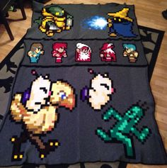 Final fantasy crochet blanket