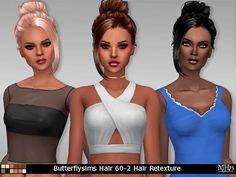 Sims Addictions: Butterflysims Hair 60-2 Hair Retexture • Sims 4 Downloads