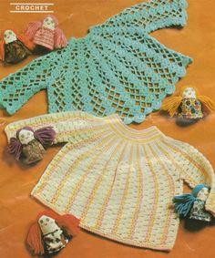 Baby Girl Angel Top PDF Crochet Pattern : 2 Designs . Babies 19 - 20 inch chest . Baby Girl . Short Dress . Instant Digital Download by PDFKnittingCrochet on Etsy