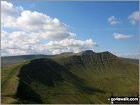 Gwaun Cerrig Llwydion and Fan y Big from Blaen y Glyn (strenuous)