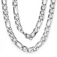 Men's Platinum Plated Hip Hop Figaro Chain (12 Mm Width X 36 Inch Length) DazzlingRock Collection. $12.99