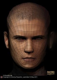 Face character topology by Andrey Razukhin | 3D | CGSociety