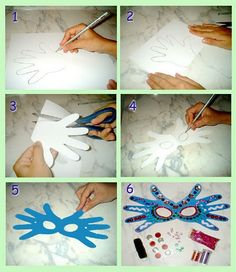 Carnival mask how to