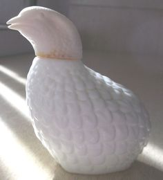 Avon Partridge Bird White Bottle Empty #Avon