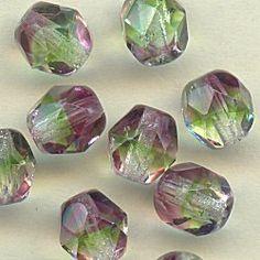 16166 Kaleidoscope Fire Polished Crystal Beads, 6mm, 10