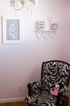 zebra print!! This is sooo what I'm gonna recover my old 60s chair with!!