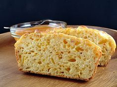 Cheese bread  - you'll want more than 2 sliced ;-)