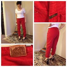 Iconic Vintage 80s/90s Marithe Francois GIRBAUD High Rise Jeans in  Red Stone Wash - 27 waist via Etsy