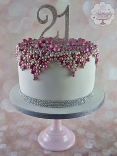 21st Birthday Cake by Butterfly Cakes and Bakes