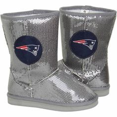 New England Patriots Ladies High-End Sequin Boots