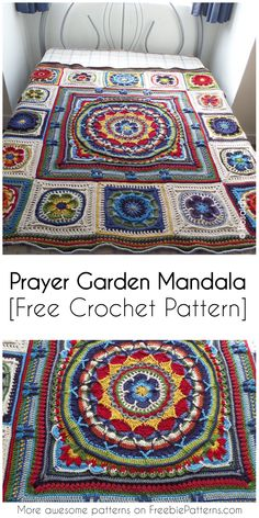 Prayer Garden Mandala [Free Crochet Pattern] #crochet #mandalapattern #crochetpatternforafghan