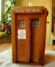 gingerbread tardis ...Dr Who?