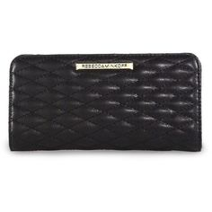 Rebecca Minkoff Sophie Quilted Leather Snap Continental Wallet ($95) ❤ liked on Polyvore