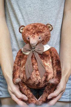 Teddy toy / Мишки Тедди ручной работы. festive bear. HelikaToys(Елена Хотляник). Ярмарка Мастеров. Медвежонок, мишки тедди винтаж, Винтажный плюш