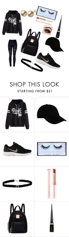"""""""The Black Cat"""" by wondering-21girl ❤ liked on Polyvore featuring WithChic, STONE ISLAND, NIKE, BillyTheTree, Puma, Fiorelli, Christian Louboutin, ASAP and allblackoutfit"""