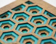 Wall Art - 3D Hexagon Laser Cut