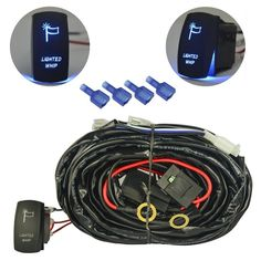 MICTUNING 40A Relay 30A Fuse Wiring Harness Laser HORN Red