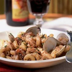 Seafood Ragù with Cavatappi | MyRecipes.com
