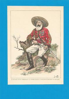 France-Planche de JOB - Mexique.Colonel DUPIN.contre guérilla française.