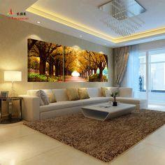 3 unids tree pictures home decoración de la pared para el dormitorio de la sala de arte barato grande de la lona pintura al óleo de impresión