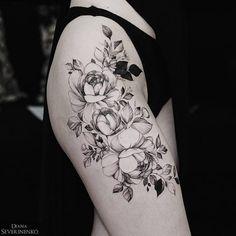 Charming Floral Tattoo World by Diana Severinenko