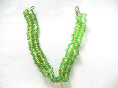 Greenery bracelet green bracelet yellow bracelet door EraOfCrea