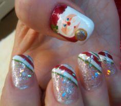 Santa claus is coming...... Alicia says so!! nail art at A Touch Of JOY!! Nail Salon Salem NH