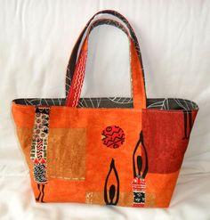 Instructions for a reversible bag - Kiribana Reversible Tote Bag, Diy Tote Bag, Diy Purse, My Bags, Purses And Bags, Necktie Purse, Origami Bag, Bag Pins, Jute Bags