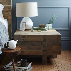 Emmerson™ Reclaimed Wood Block Side Table #westelm