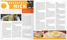 breakfast magazine layout Food Magazine Layout, Bacon Egg And Cheese, Biscuits And Gravy, Breakfast Burritos, Best Breakfast, Cereal, Breakfast Cereal, Corn Flakes