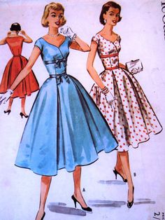 Vintage 1950 McCalls 3658 Rare Wrap Midriff Panel by FoxVintageUk