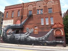crazy street painting by ROA.