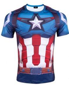 2015 New Captain America t shirt Avengers: Age of Ultron superhero costume Superhero Tshirt, Shield Design, Combat Gear, Avengers Age, Chris Evans Captain America, Age Of Ultron, Super Hero Costumes, Spiderman, Marvel 3