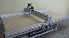 Running a 5 x 9 table through its paces. Cnc Router Table, Cnc Router Plans, Cnc Table, Diy Cnc Router, Cnc Plans, Router Lift, Arduino Cnc, Routeur Cnc, Cnc Plasma Cutter
