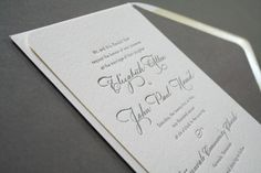 Oh So Beautiful Paper: Elizabeth + John's Classic Calligraphy Wedding Invitations