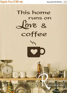 Check Out Theres Always Time For Coffee Vinyl Wall Decal Kitchen - Custom vinyl wall decals coffee