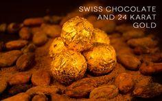 Close up of DeLafee's 24 karat gold swiss chocolate truffles Dark Chocolate Brands, Swiss Chocolate, Choco Loco, Gold Home Accessories, Gold Powder, Rich People, Gold Gifts, Chocolate Truffles, Luxury Gifts