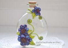 Polímero arcilla flores Flower Decor cristal por CraftyClayStudio