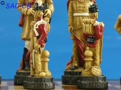 Hand Painted Battle of Waterloo Chess Pieces