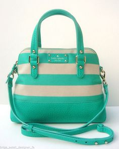 NWT Kate Spade Grove Court Stripe Maise Purse Bag