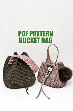 Crochet bag pattern Crochet tutorial Bryce bag PDF pattern