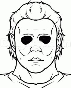 how to draw michael myers easy step 7 - Halloween Wallpaper Easy Halloween Drawings, Scary Drawings, Halloween Canvas, Cool Art Drawings, Halloween Doodle, Michael Myers Drawing, Jason Drawing, Freddy Krueger Drawing, Desenhos Halloween