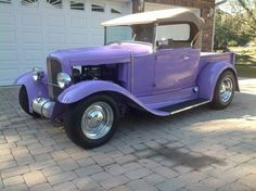 1930 Ford Pickup, Blueprinted Crate 350 ., GM crate 350 turbo transmission, All Steel-Brookville 6″extended cab and matched bed, TIC stage III Frame, Stainless Top Irons and Deluxe Hartzcloth Top, PPG Lavender Cream paint, Custom Bone Interior, HTP stainless headers and stainless exhaust, Walker radiator with stainless reservoir, VDO gauges, Genie shifter, Super Bell axle,... Vintage Trucks For Sale, Cream Paint, Hot Rods, Antique Cars, Ford, Irons, Headers, Crate, Autos