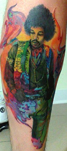 Hendrix   Tattoo by Matteo Pasqualin