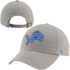 '47 Brand Detroit Lions Cleanup Adjustable Hat - Silver - $21.99