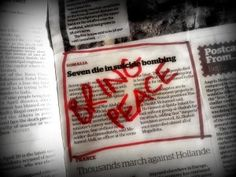 Creative Prayer: Pray the Newspaper - make sure the papers are current and ask people to write their prayer on the article
