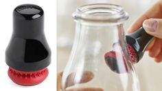 This brilliant magnetic rubber scrubber cleans the parts of the bottle that you just can't reach with your hands or a typical bottle brush.