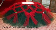 diy christmas tutu... If not Christmas season, then other color schemes!