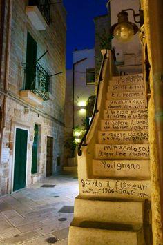 Grafitti steps in Polignano a Mare, Italy